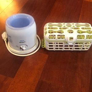 Phillips Avent bottle warmer & baby dishwasher set